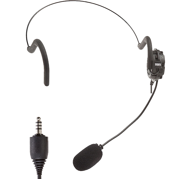 STP8X Lightweight Headset is ideal for use in low noise environments