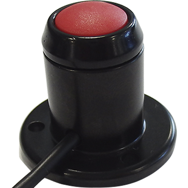 SRG Emergency Button consisting of rugged panel mounted push button in red and black