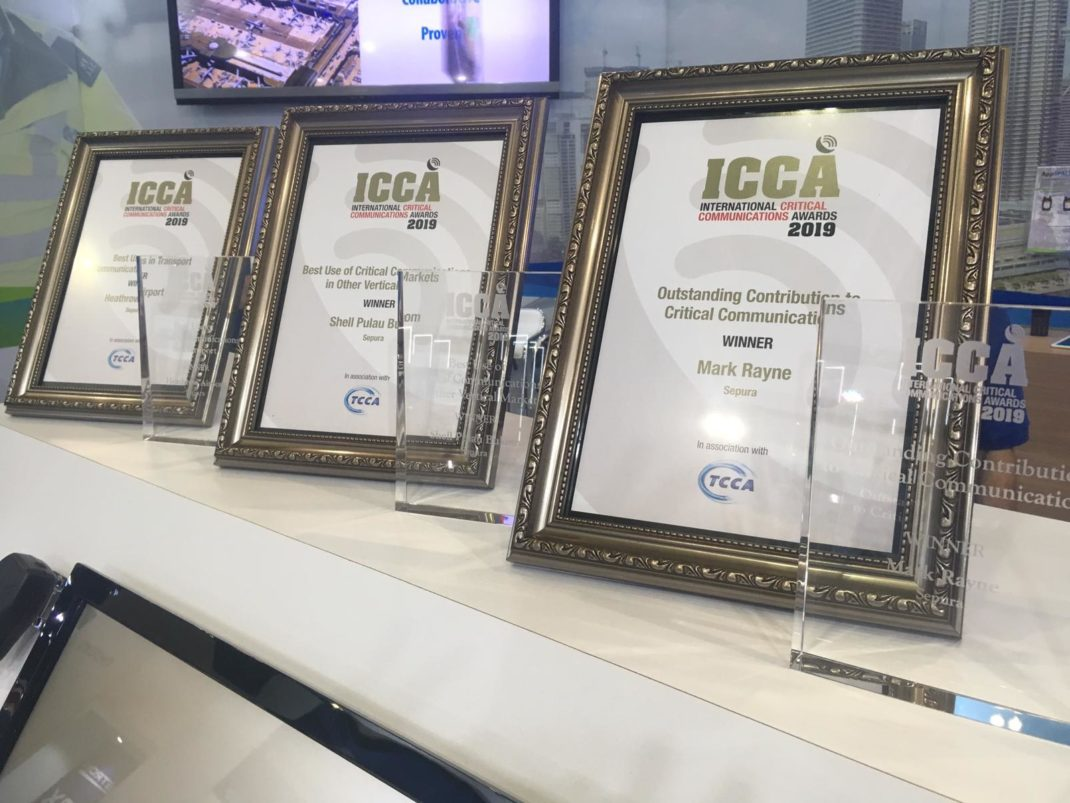 3 ICCA Awards Won by Sepura at CCW 2019