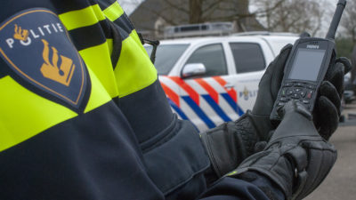 Dutch Police Officer with a Sepura SC20 TETRA Radio HR