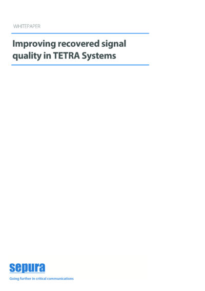 Improving Recovered Signal Quality In Tetra