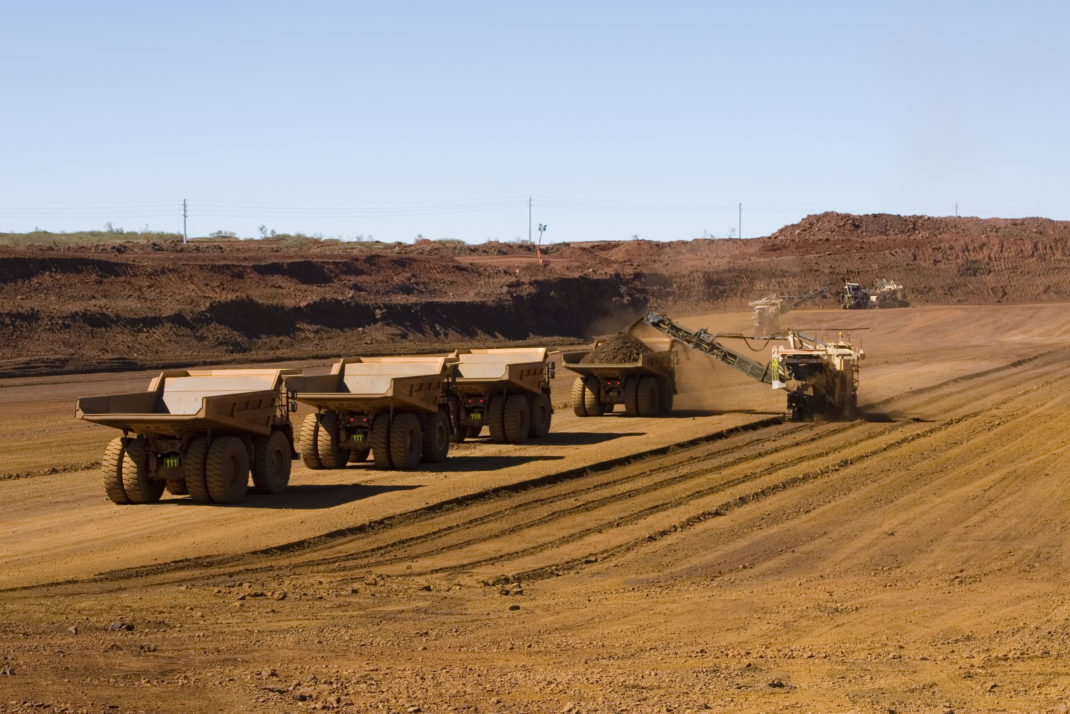 Fortescue Metal Group trucks out in the field
