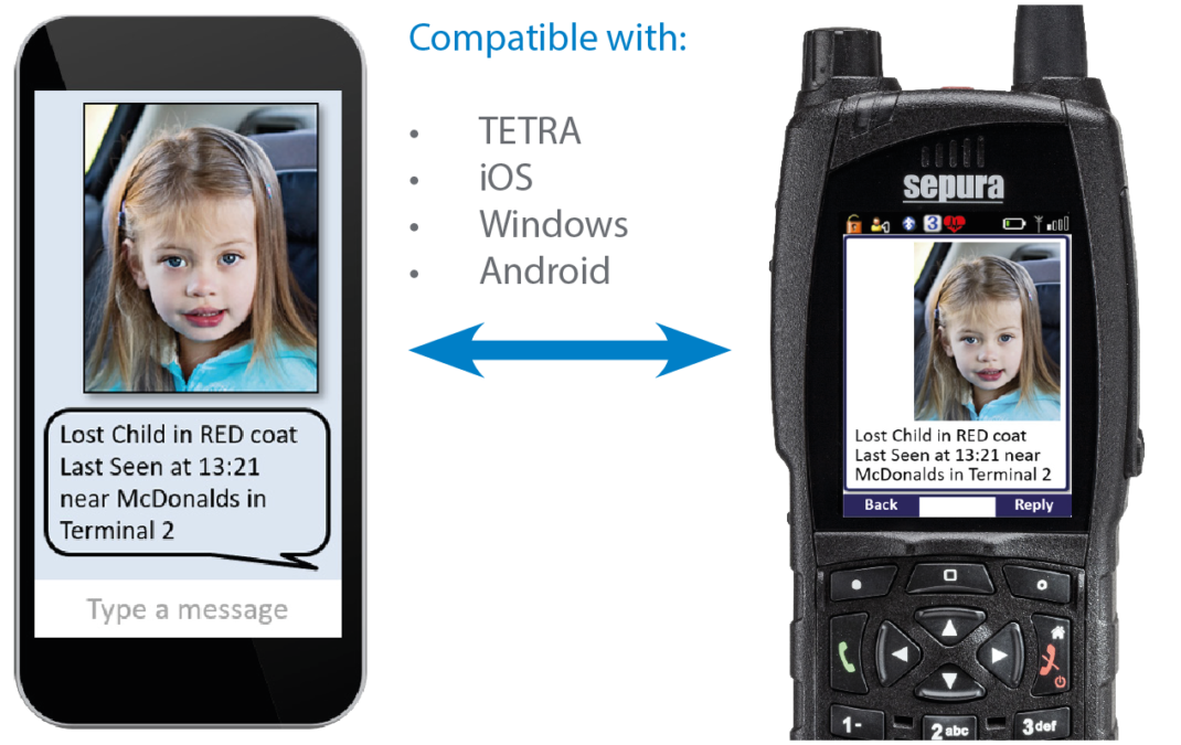 Smart Chat AppSPACE application between smart phone and SC20 radio