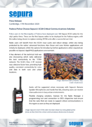 Padova Police Choose Sepura's SC20 Critical Communications Solution