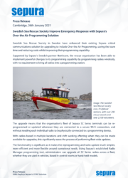 Swedish Sea Rescue Society Improve Emergency Response with Sepura's Over the Air Programming Solution