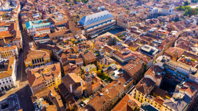 Overhead view of Padova, Italy. Credit: Shutterstock